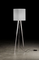 2633-2-79 , Floor lamp Brushed Aluminium, 2x E27, without shade, with cord operated dimmer (Halogen  + LED) max. 2x 53 W