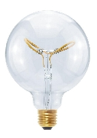 SG-50415 , Segula Led Lamp Globe 125  Curved Plus Butterfly clear